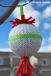 easypeasi christma, tree, christma decor, ribbon crafts, homemad christma