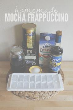 Homemade Mocha Frappuccino Recipe #frappucino #recipe #coffee #mocha #java #homemade #recipe #drink