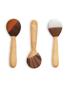 Chocolate-Dipped Cookie Spoons