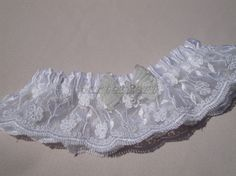 White Lace #Garter #Bridal lace garter by GarterMart on Etsy  #weddings #brides