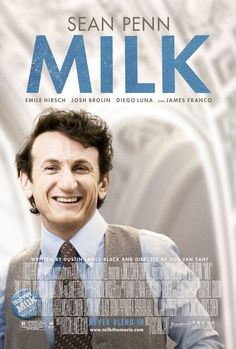 'Milk' - The story of the career and assassination of Harvey Milk, played by Sean Penn, the first openly gay person to be elected to public office in California.