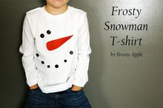 craft, snowman tshirt, sewing projects, diy gifts, christmas sweaters