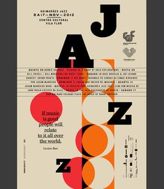 Love these Jazz posters by Martino & Jana! Beautiful grid and color.