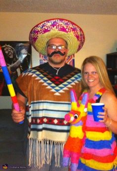 Mexican & Pinata - Halloween Costume Contest via @costumeworks