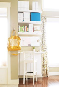 Small space desk idea... Great for the kids rooms