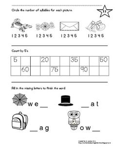 Great review packet for the beginning of 1st grade! Most all CCSS included.