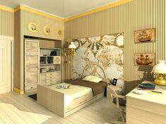 Map/Boys rooms
