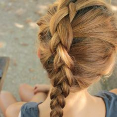 Try a reverse french braid.