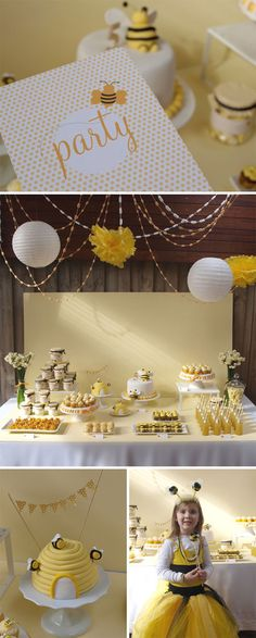 bee theme, birthday parties, party themes, bee parti, bumble bees, baby showers, honey bee, bumble bee party, bee birthday