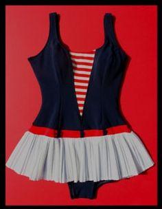 retro 1950s swimsuit
