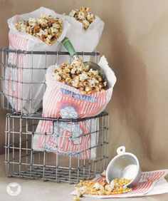 Add some sweets to your family movie night with this muddy buddy popcorn snack!