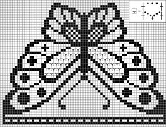 Chart for the crochet butterfly head scarf!