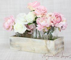 Planter Box Centerpiece Vase Shabby Chic