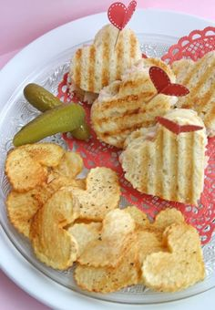 Heart shaped breads are a staple at our house...but the Valentine home-fries? Oh yeah baby!