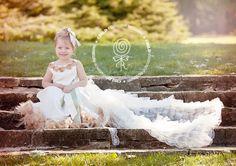 Autumn Falls Flower Girl Dress