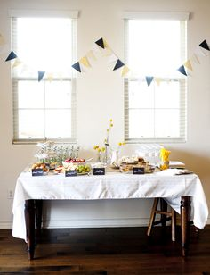 cleo's party - cute, simple table