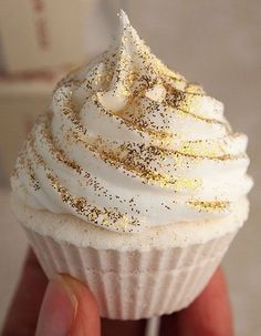 or a simple cupcake with edible glitter on top or glitter cupcake wrapper. this would be the easiest