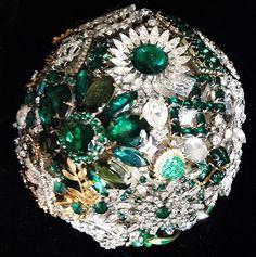 Emerald green brooch bouquet brooch bouquets, emerald green, emerald city, green brooch bouquet