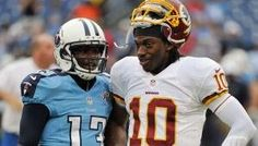 Just a couple of the many #Baylor alumni who are now playing on Sundays. #SicEm #NFL #RG3 #RGIII #KendallWright (photo by Frederick Breedon, found via BUfootball on Twitter)