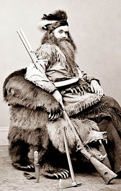 Mountain Man in Grizzly Bear Chair ...