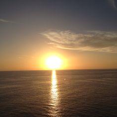 Balcony view on cruise ship