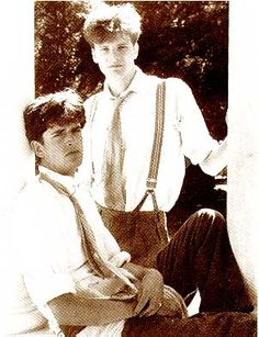"""Young Rupert Everett and Colin Firth in """"Another Country.""""  My introduction to Colin Firth.  And it was wonderful."""