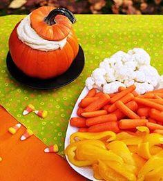 candy corn veggie tray!