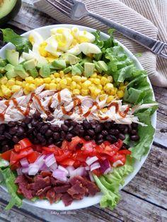 bbq chicken cobb salad. looks beautiful!