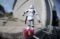 Storm trooper and barbie shoes together.... WIN!
