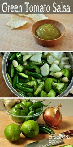 Green Tomato Jalapeno Salsa - amazing stuff!   The Creekside Cook