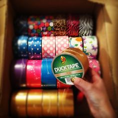 Color and printed Duck Tape brand duct tape