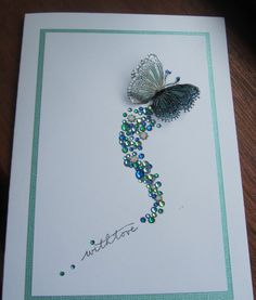 card idea, craft, butterfli card, butterflies, beauti, scrapbook, diy, cards, thing