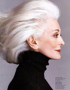 old age, white hair, gray hair, grey hair, aging gracefully, fashion models, sophisticated style, carmen dellorefic, beauti