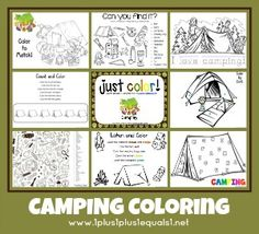 Camping coloring she