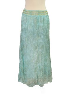 #Blue #Floaty #Skirt #Hippie #Boho #Floral #Fashion #Clothing #GooseIsland