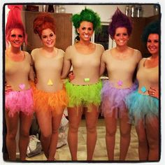 Troll doll Halloween costumes! SO CUTE! Great group idea! Love my friends