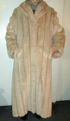 New Pamela McCoy Faux Fox Luxurious Long Coat | eBay