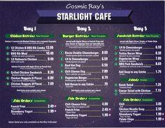 cosmic rays disney menu | Magic Kingdom - Cosmic Ray's Starlight Cafe