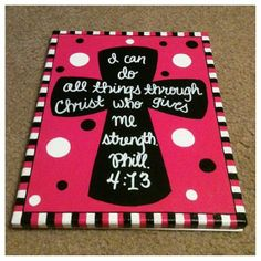 Cross Painting Phil 413 by DesignedByTwo on Etsy, $35.00