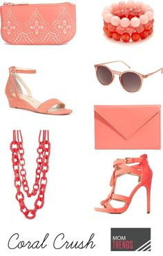 coral shoes, bags an
