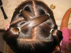 great ideas for little girls hairstyling...now if she would actually sit still long enough