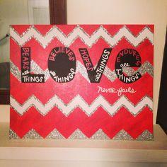 Artwork chevron love quotes