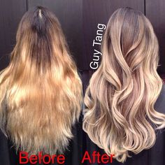 Color correction #ombre #balayage #makeover #blonde color correct