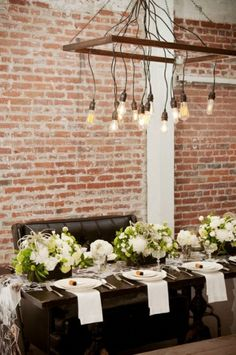 table settings, dining rooms, hanging lights, light fixtures, diy tutorial, diy chandelier, bulb, lamp, kitchen