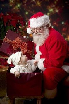 #child coming out of #christmaspresent #fatherchristmas #Santaclauspictures http://www.fatherchristmasletters.co.uk/letter-from-santa.asp