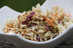 Asian Slaw (made with Ramen noodles and coleslaw mix).