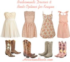 """""""Bridesmaids Dresses & Boots"""" this is what i want for my girls :)"""