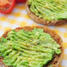 Healthy Breakfast Sandwich Recipe: Avocado and Cheese on English Muffin - Healthy Breakfast Sandwich Recipes - Shape Magazine