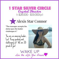 SO PROUD to announce that one of our WAKE UP founders, Alexis Connor, hit 1 Star Silver Circle Crystal Director!!!!!  She's replaced her income and is resigning from her 9-5 job to work on her nutritional cleansing business part-time and be home with her three girls!!!  #wakeupproject www.facebook.com/wakeuplivethelifeyoudream