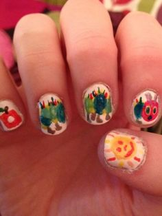 Hungry Caterpillar Nails! We LOVE!